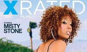 Black dime Misty Stone giving large cock oral sex before intercourse on couch № 614989 бесплатно