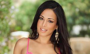 Beautiful Latina Layla Sin with cum dripping off pretty face № 942764 без смс