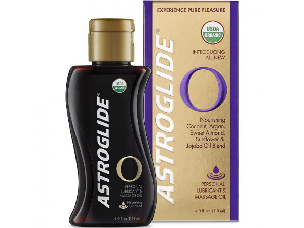 Astroglide O is a USDA-Certified organic, oil-based product. The lube combines ultra-hydrating plant-based oils including coconut, argan, jojoba, ylang-ylang and sweet almond.