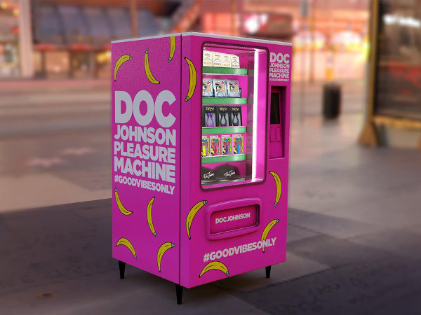 "Doc Johnson has carried the concept — if not the fakery — of the old-time traveling medicine shows into the 21st century with its traveling ""technicolor touring pop-up"" sex-toy vending machine."