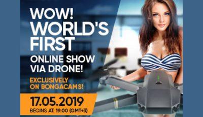 BongaCams live show via drone