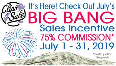 Clips4Sale Big Bang Sales Incentive