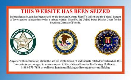 Escort site seized