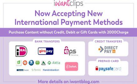 iWantClips New Alternative Payment Methods