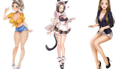Pornhub models in Nutaku games
